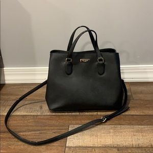 Black leather KATE SPADE bag